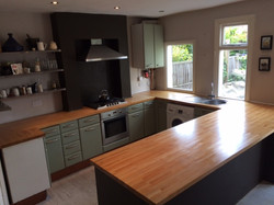 worktop sanded down and oiled