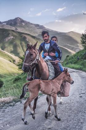Adil and his niece Rojin. Van, Turkey. June 2015.