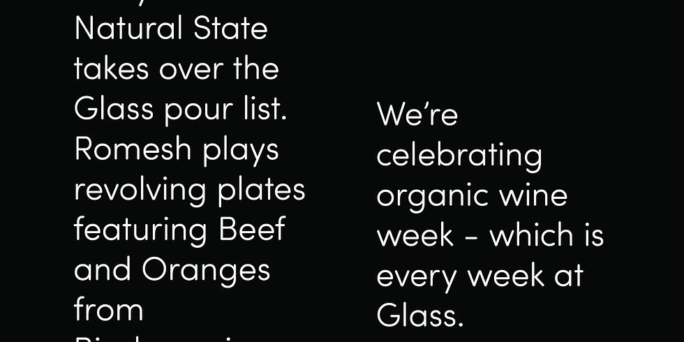 Organic Wine Week at glass restaurant