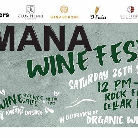 Organic Wine Week and a MANA Wine Fest!