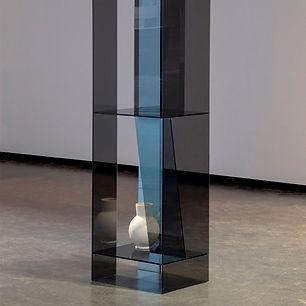 Nahaufnahme Layered Transaprency Vase Ausstellung Anne-Sophie Oberkrome