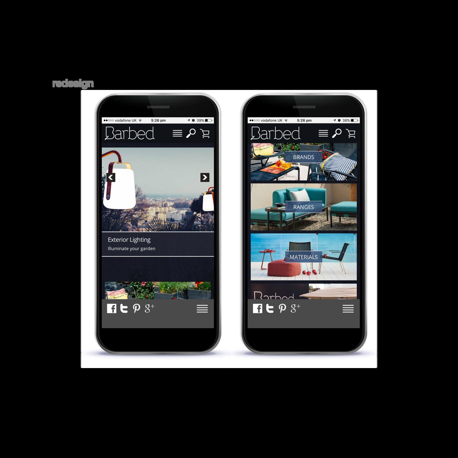 Barbed Website Redesign - Mobile