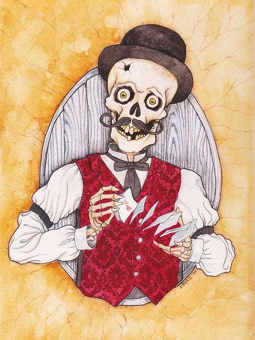 """The Dealer"" Original Watercolor Illustration (9"" x 12"")"