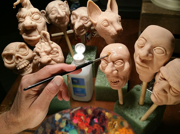 prepping sculpts for paint.jpg