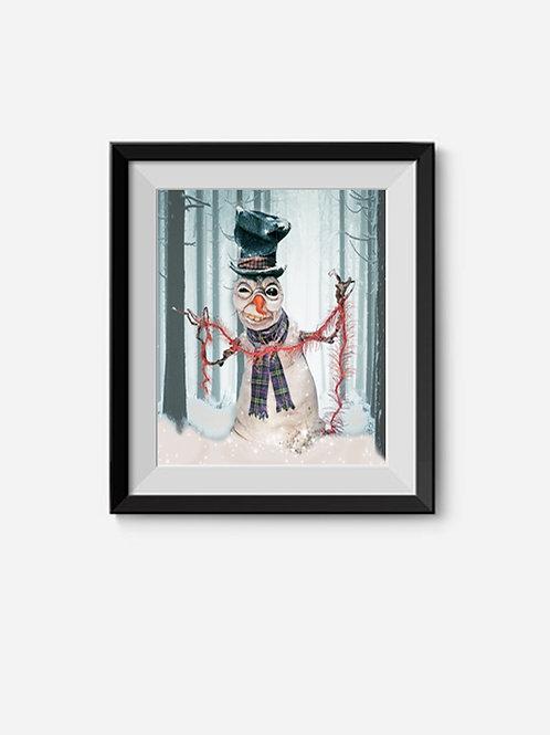 Frostbite The Snowman (giclée print)