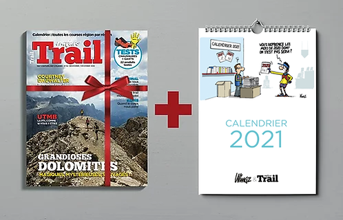 Calendrier Dingues de Trail + 1 an d'abonnement au magazine Nature Trail
