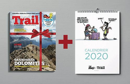 Calendrier Dingues de Trail + 1 an d'abonnement au magazine Nature Trail