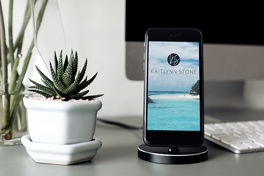 Kaitlynn Stone Website iPhone Mockup Des