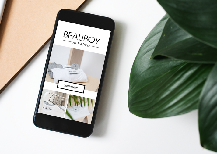 Beauboy Apparel Phone Mockup by Kaitlynn Stone