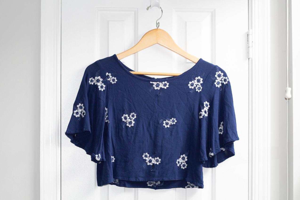 H&M Flower Crop Top | Kaitlynn Stone Plato's Closet Summer Haul