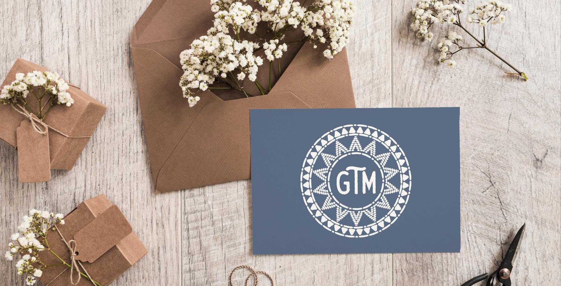 GTM Wedding Emblem Design by Kaitlynn Stone