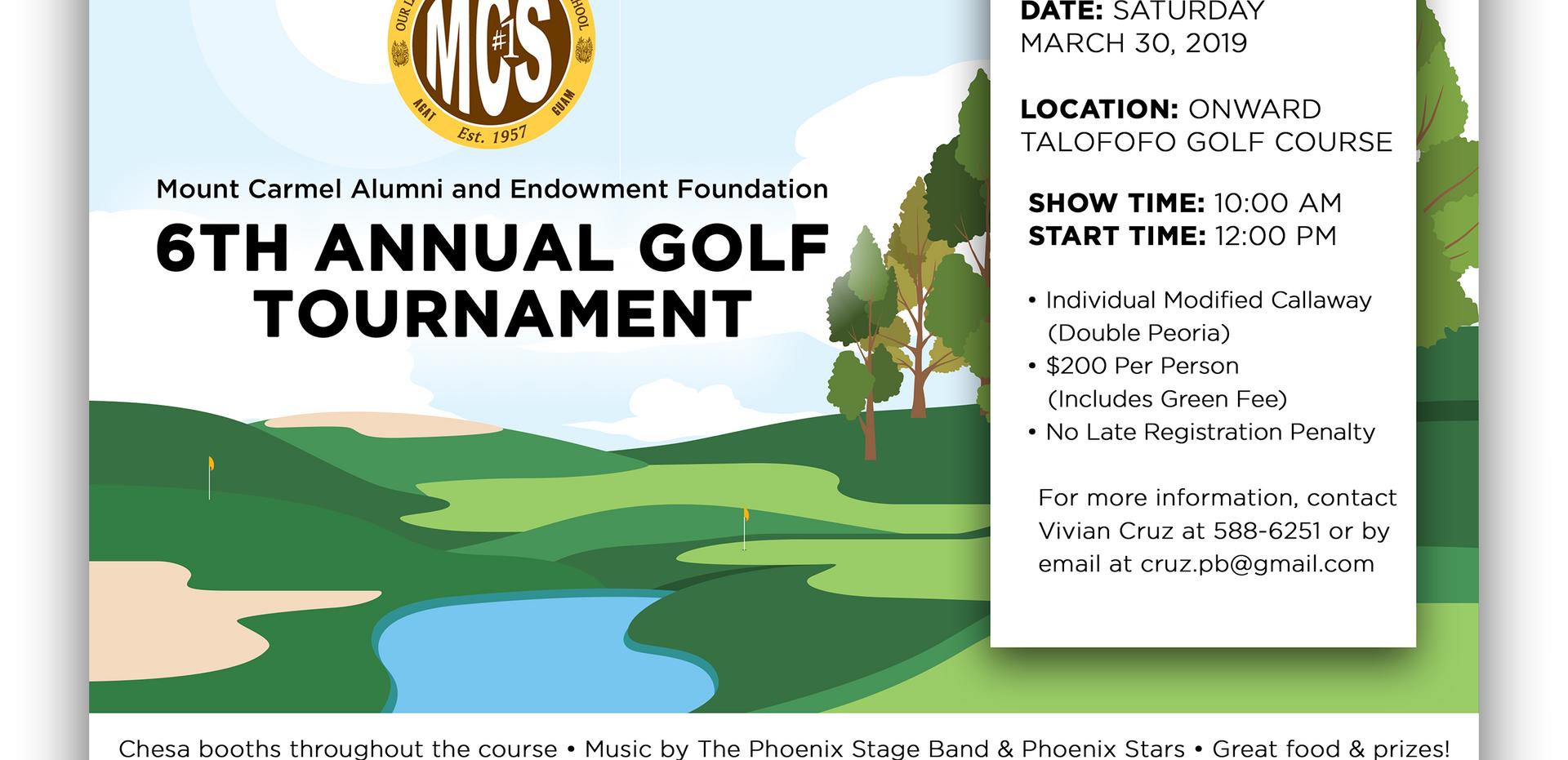 MCS Annual Golf Tournament Postcard Design by Kaitlynn Stone