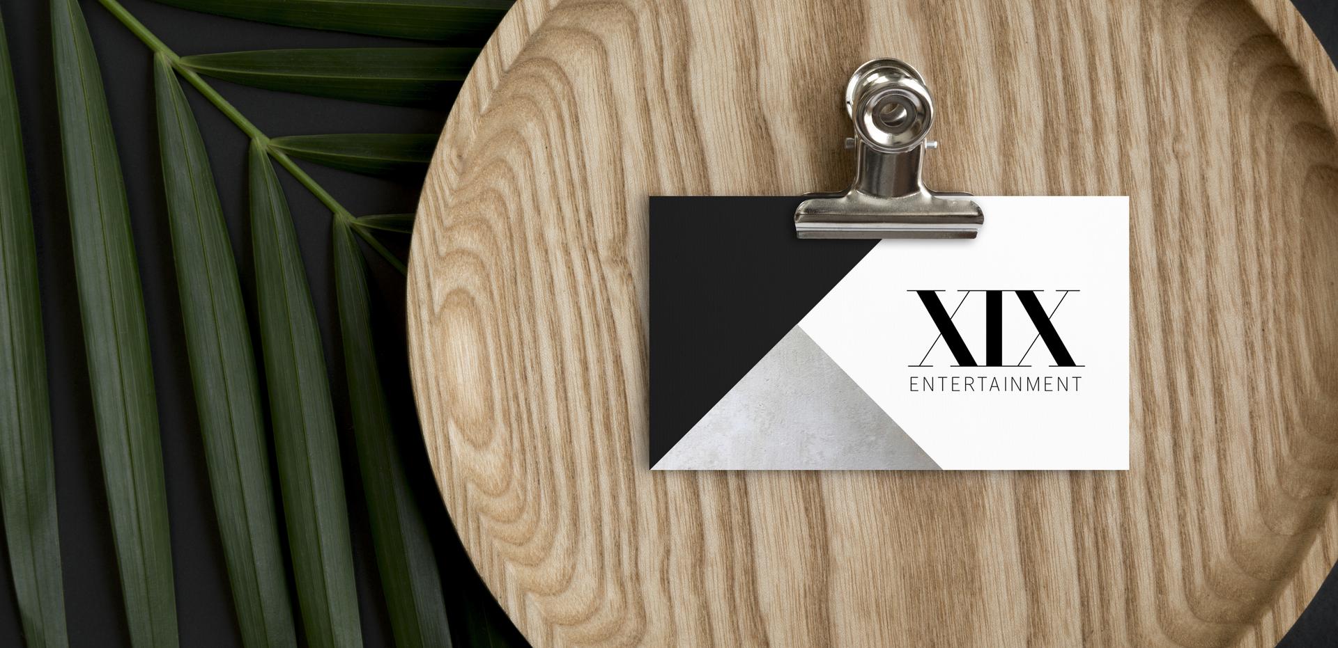XIX Entertainment Logo Design by Kaitlynn Stone