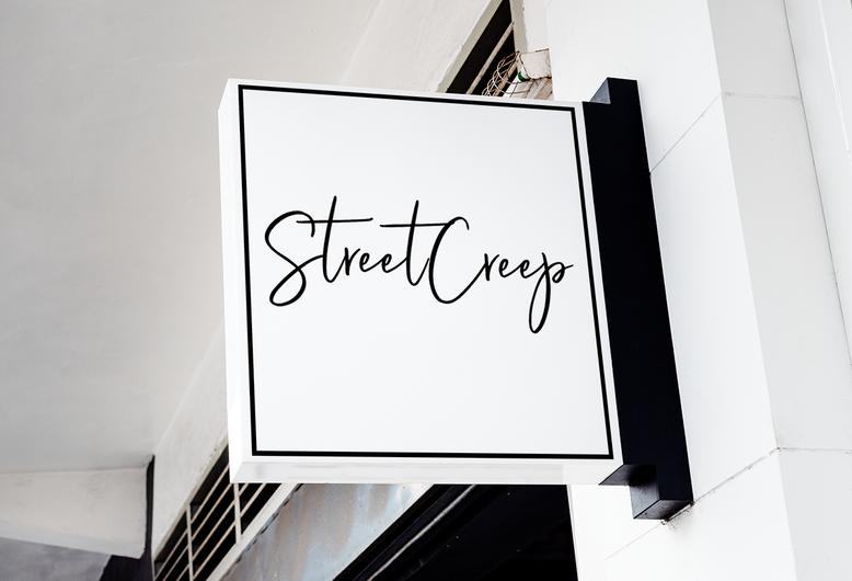 Streetcreep Store Sign Mockup by Kaitlynn Stone