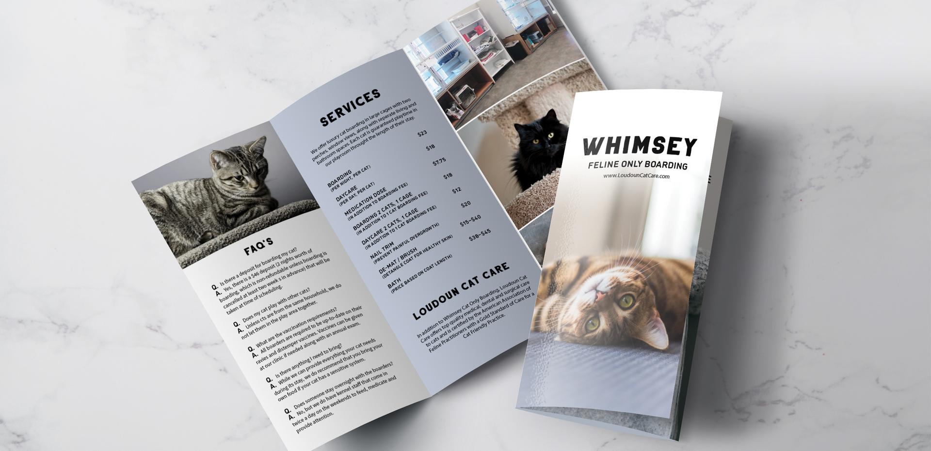Whimsey Feline Only Boarding Brochure by Kaitlynn Stone