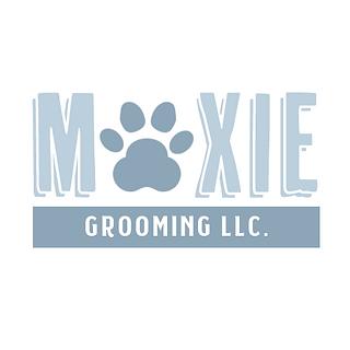 Moxie Grooming LLC Logo Design Branding Dog Grooming Pet Spa Concept