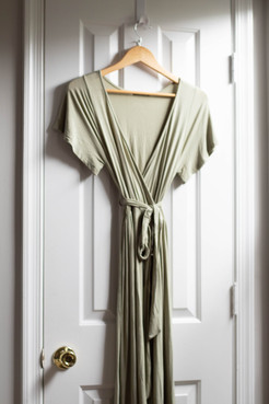 Sage Asymmetric Crossbody Dress | Kaitlynn Stone Plato's Closet Summer Haul