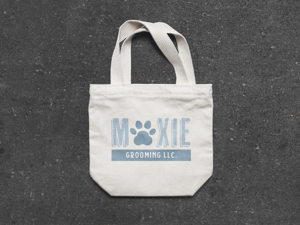 Moxie grooming canvas bag mockup by Kaitlynn Stone