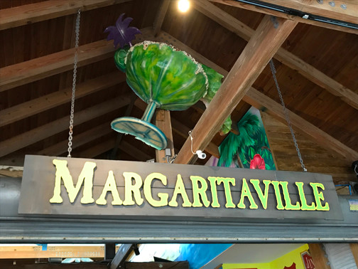 Margaritaville Sign at Atlantis Bahamas by Kaitlynn Stone