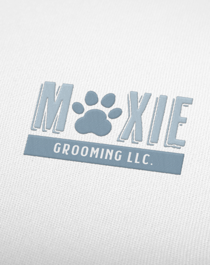 Moxie Grooming Embroidered Logo Mockup by Kaitlynn Stone