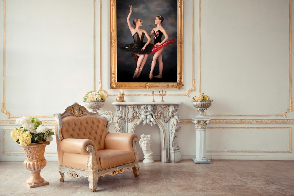 One of Bradford's Portraits Hang in an Appointed Home | Photo courtesy of Bradford Portraits