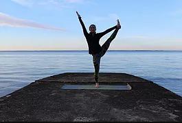 Kaitlynn Stone Tree Pose Yoga Practice
