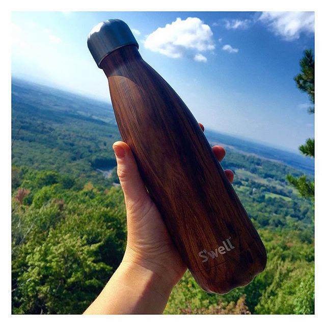 Swell Water Bottle Teakwood Bear's Den Lookout Hike Kaitlynn Stone Blog