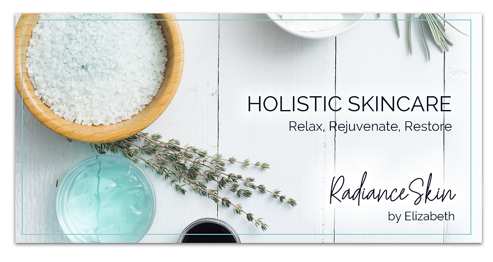 Holistic Skincare Radiance Skin by Elizabeth Relax Rejuvenate Restore Advertisement by Kaitlynn Stone