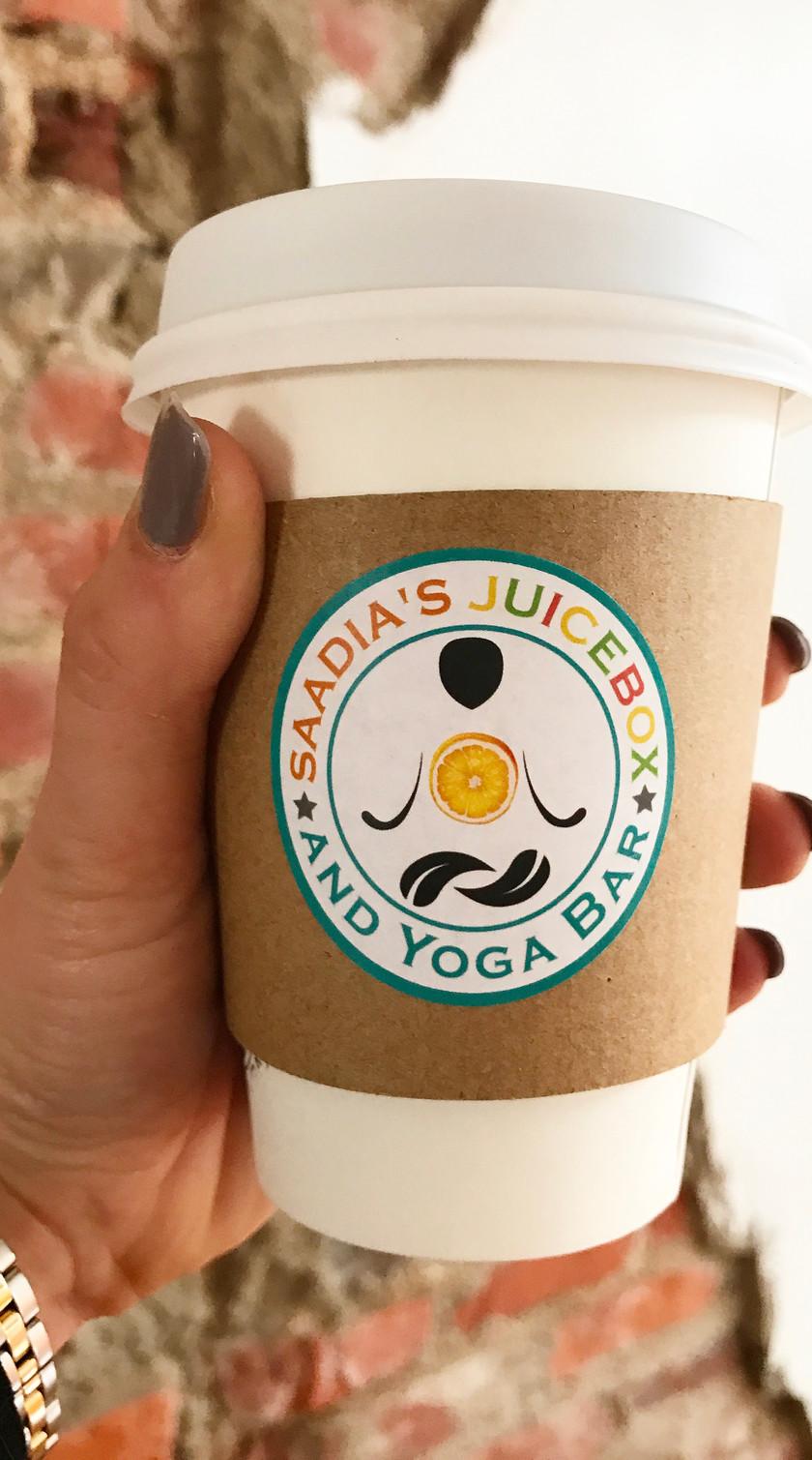 Kaitlynn Stone at Saadia's Juicebox & Yoga Bar