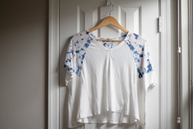 Free People Tie Dye Tee | Kaitlynn Stone Plato's Closet Summer Haul