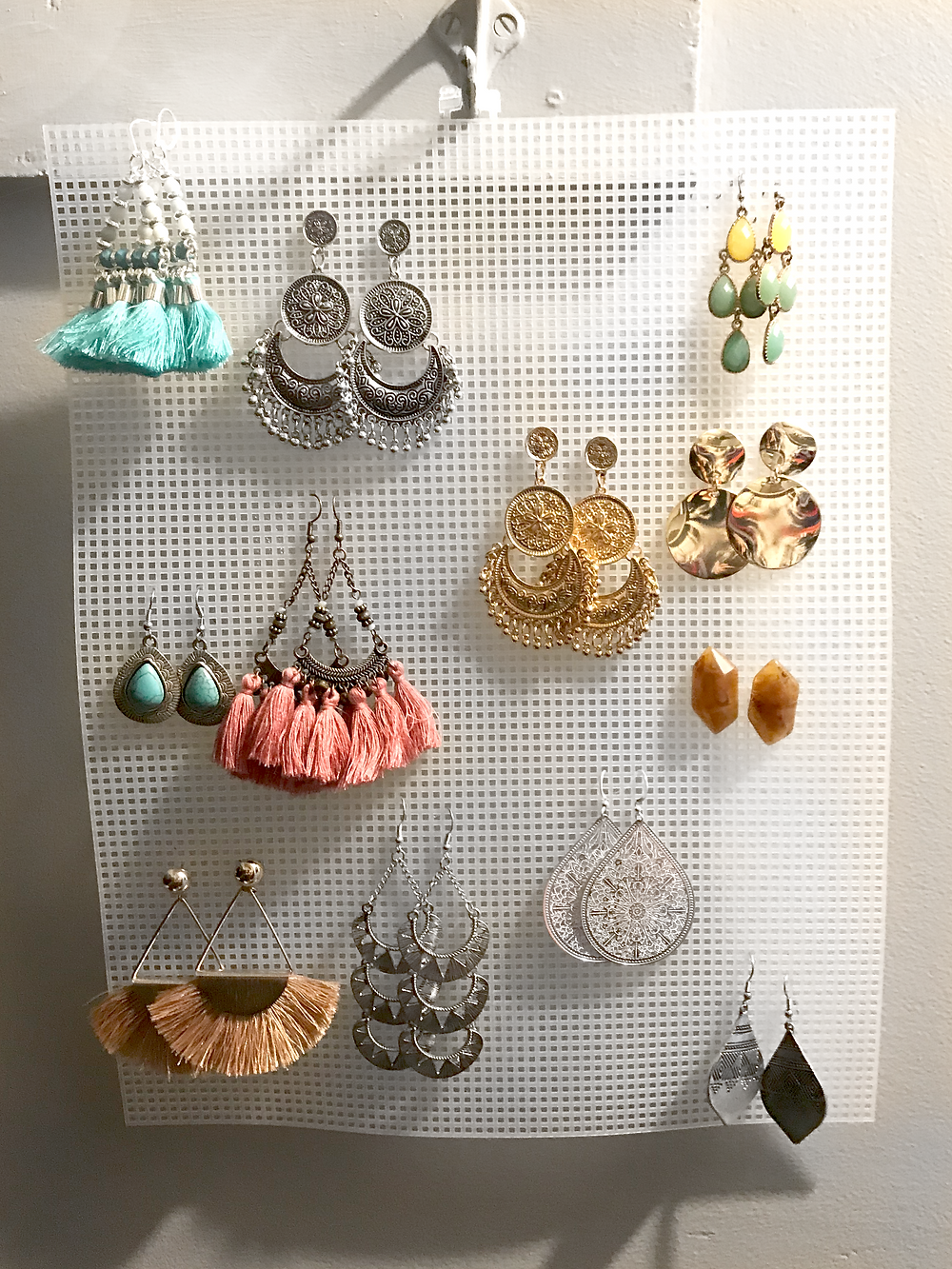 Easy, Affordable Way to Store and Display Dangly Earrings Kaitlynn Stone Blog