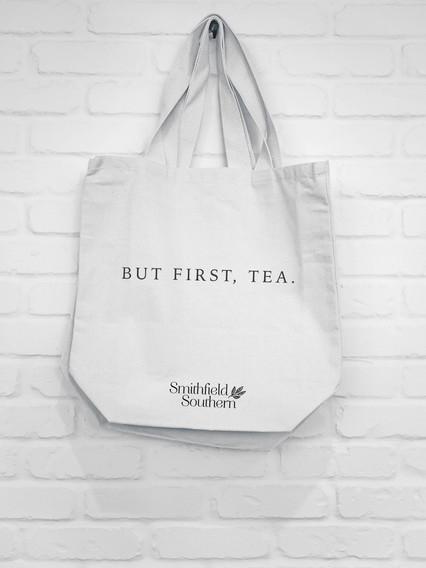 Smithfield Southern Tea Tote Bag Mockup by Kaitlynn Stone