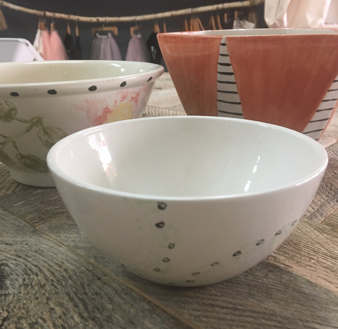 Assorted Bowls using stencils