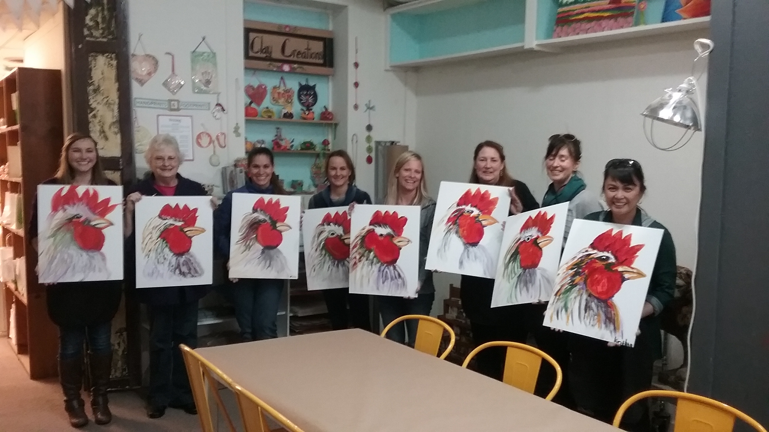 Rooster Paint & Sip