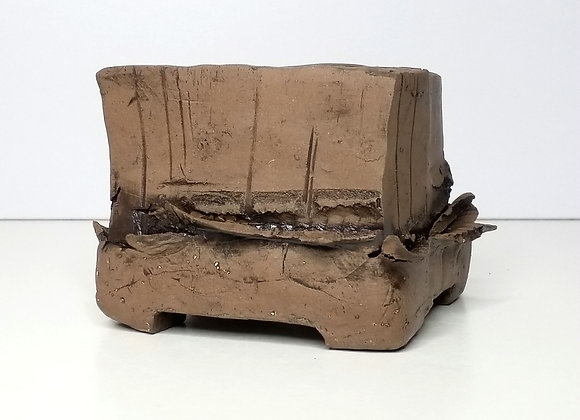 Square container #397, 10.5 x 10.5 x 8.3cm, (by Winter Ceramics)