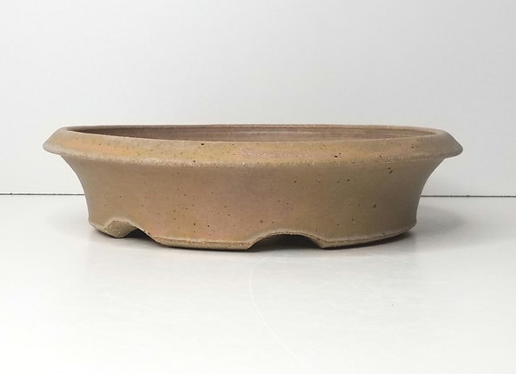 Round Container #445, 24 x 5.8cm, (by Sue McFarland)