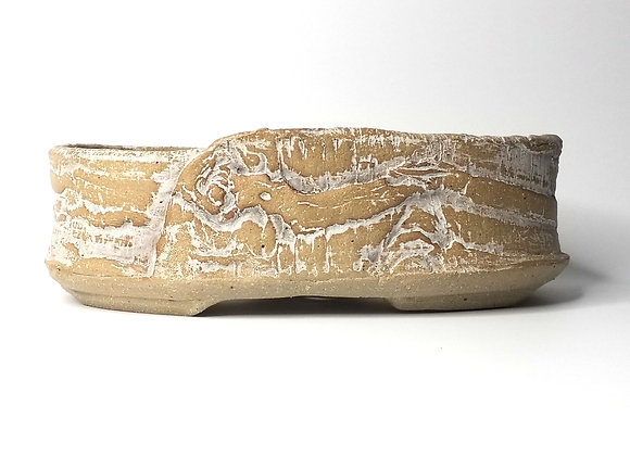 Oval container #503, 26.5 x 16.5 x 8cm, (by Sue McFarland)