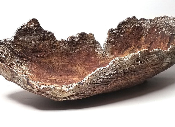 Bark container #542, 60 x 24 x 7 - 15.5cm, (by Winter Ceramics)