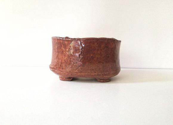 Handbuilt oval #58, 14.5 x 10.5 x 8cm (by Sue McFarland)