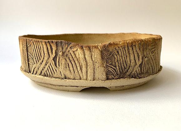 Handbuilt Oval #44, 19.5 x 16.5 x 6.5cm (By Sue McFarland)