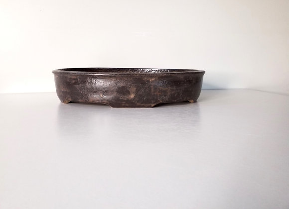Oval Container #217  34  x  26.5  x  7cm (by Tracey Francis)