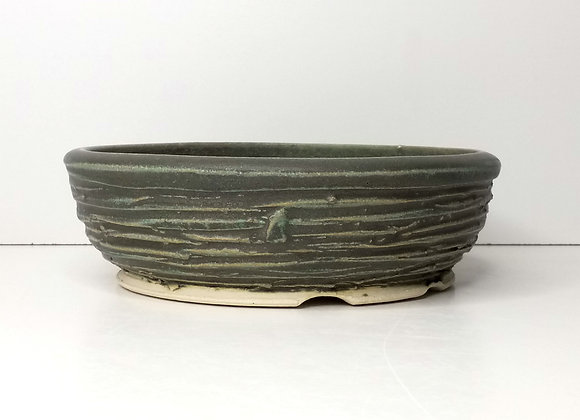 Round Container #426, 20.5 x 6.5cm, (by Sue McFarland)