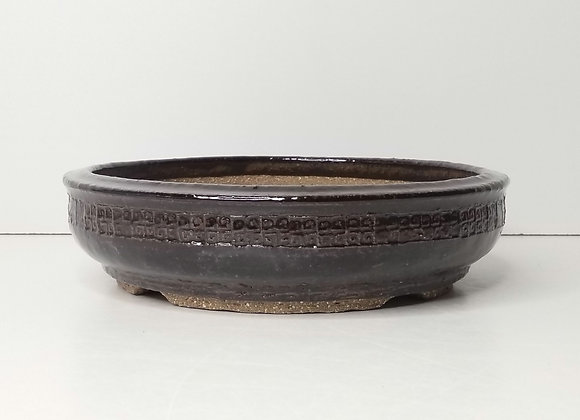 Round Container #439, 18 x 4.8cm, (by Tracey Francis)
