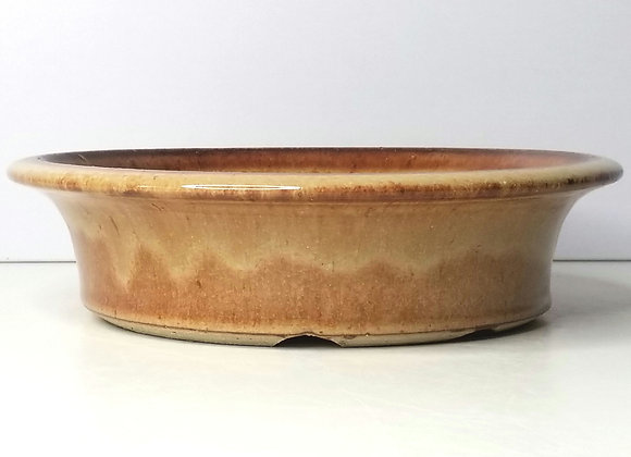 Round Container #412, 23 x 6cm, (by Sue McFarland)