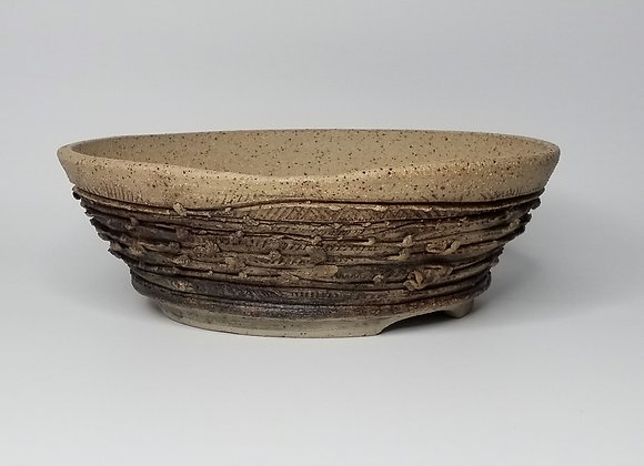 Round container #526, 32.5 x 10.5cm, (by Sue McFarland)