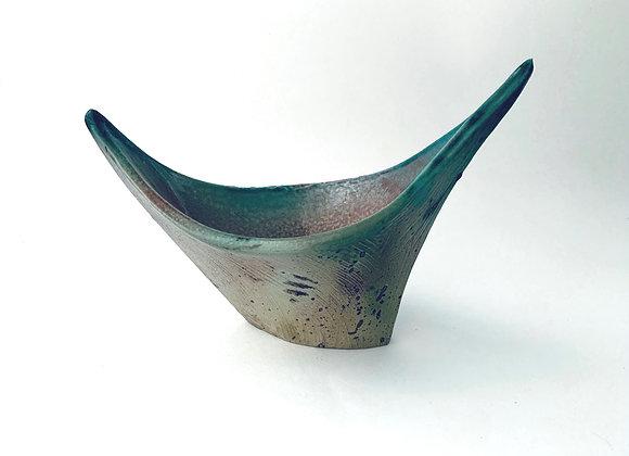 Ikebana Vase #178  21x 9.5 x 15.5cm at highest point (by Sue McFarland)