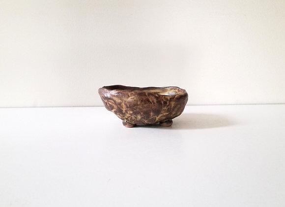 Mame/Kusamono Pod #163,  11 x 8.5 x 4cm (by Winter Ceramics)