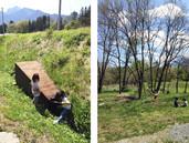基地作りと薪置き場