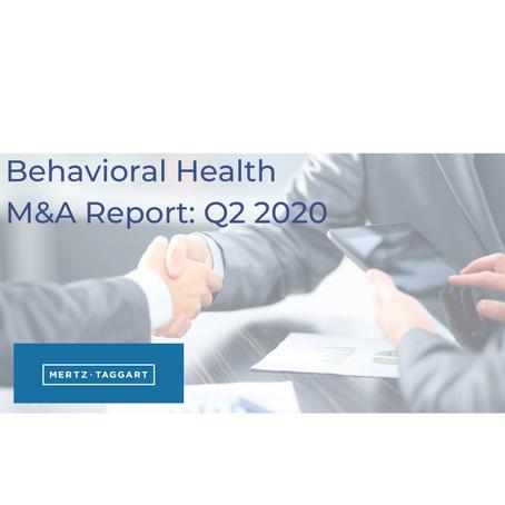 Behavioral Health M&A Report: Q2 2020