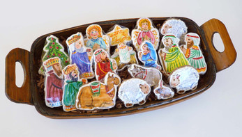 Painted Gingerbread Cookies